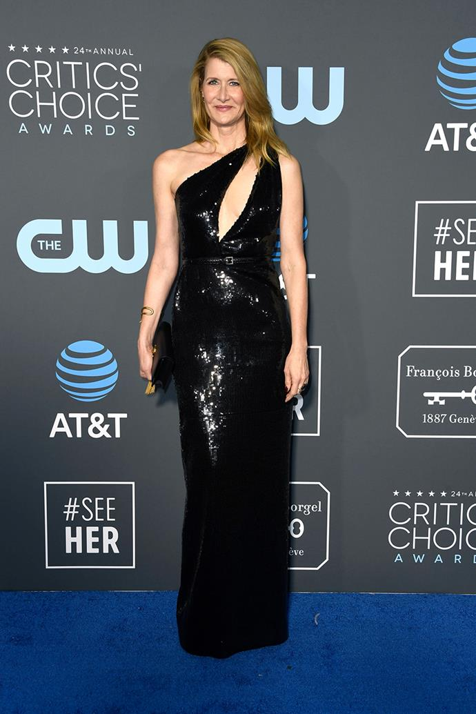 Laura Dern in Saint Laurent.