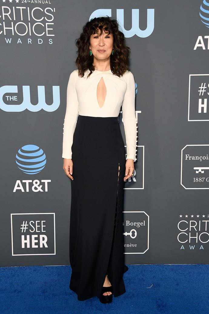 Sandra Oh in Prabal Gurung.