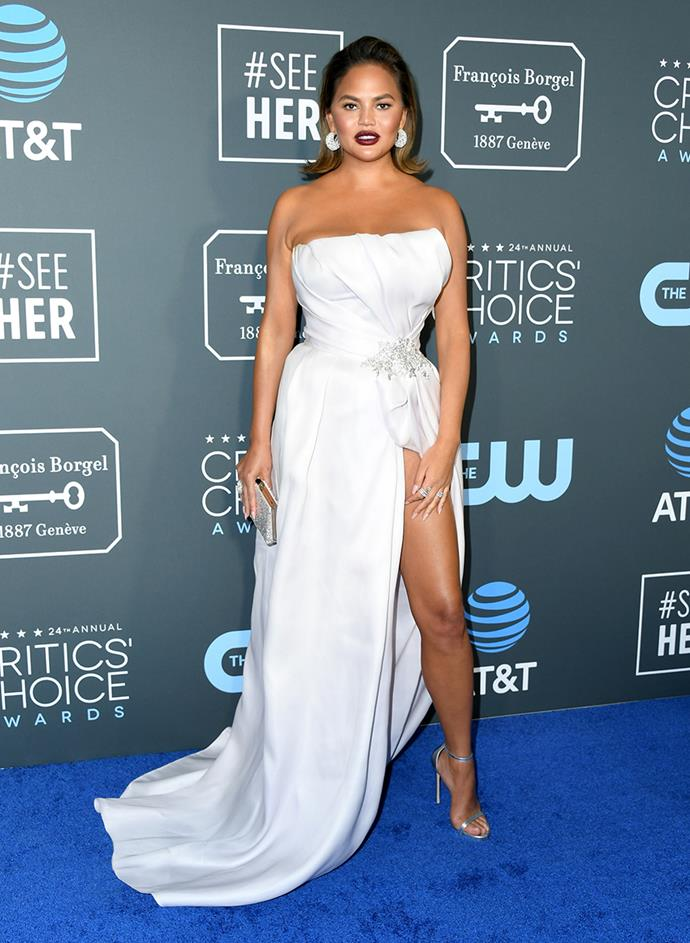 Chrissy Teigen in Maison Yeya.