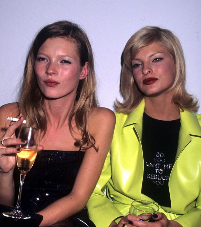 Kate Moss and Linda Evangelista, 1994