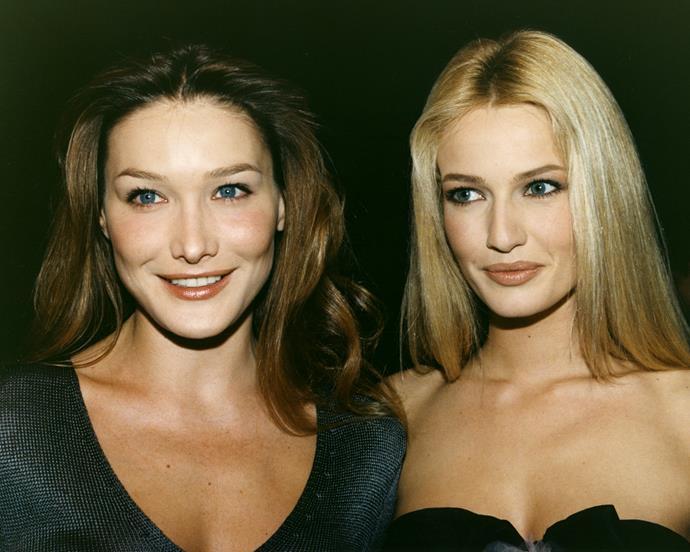 Carla Bruni and Karen Mulder, 1995