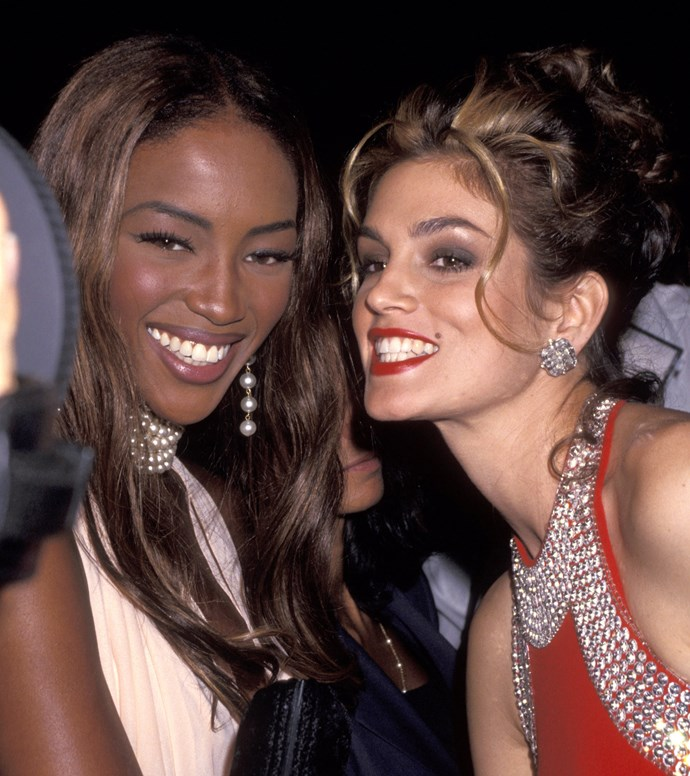 Naomi Campbell and Cindy Crawford, 1991