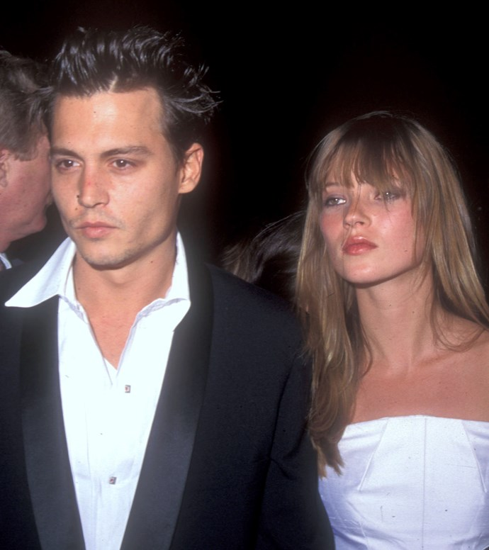 Johnny Depp and Kate Moss, 1995