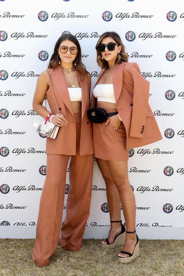 At the Alfa Romeo Marquee