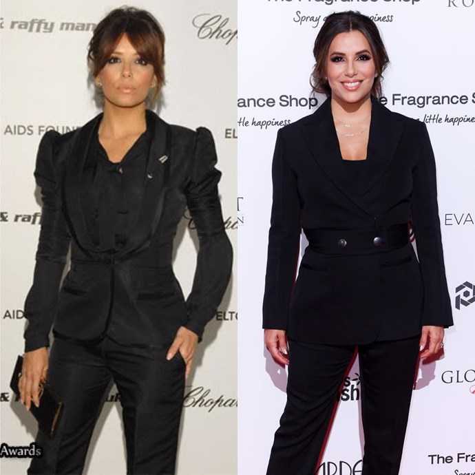 "***Eva Longoria*** <br> ""Well, here it goes y'all #10YearChallenge #BangBang #2008vs2018"" <br><br> *Image: [@evalongoria](https://www.instagram.com/p/BsqV_HOB_In/