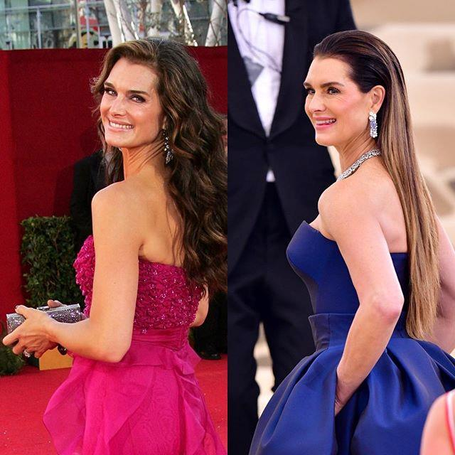 """***Brooke Shields*** <br> """"I guess I'll join in on the fun... #10yearchallenge"""" <br><br> *Image: [@brookeshields](https://www.instagram.com/p/Bsq6Z1blGS0/
