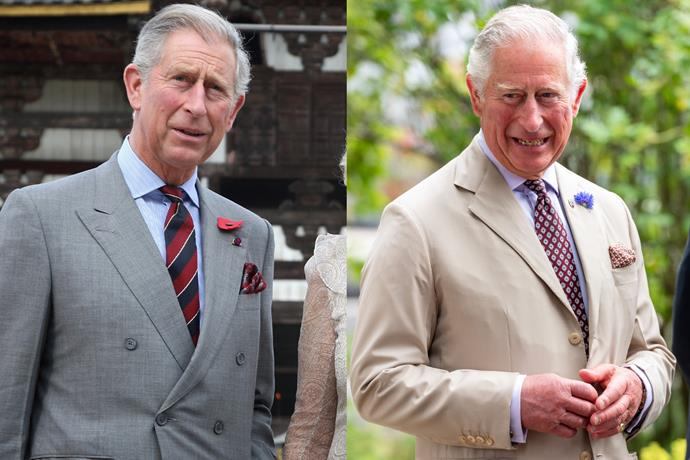 ***Prince Charles*** <br><br> We'll forgive you if you thought these pictures were from the same year, considering Prince Charles has barely aged a day for the past decade. Preparing for his role as the next monarch, perhaps?