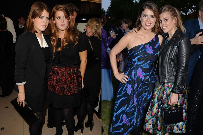 ***Princess Eugenie and Princess Beatrice*** <br><br> Considering they were only 18 and 20 years old, Princesses Eugenie and Beatrice are almost unrecognisable next to their current day selves. <br><br> Aside from experiencing a major style overhaul, Eugenie is now married to Jack Brooksbank, while Beatrice is reportedly dating businessman Edoardo Mapelli Mozzi—leaving us wondering if another royal wedding is in the pipeline.