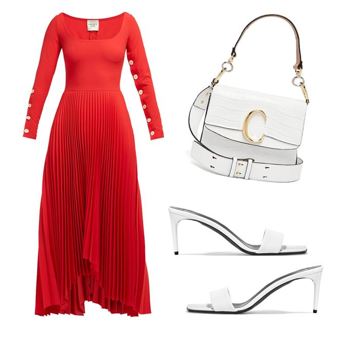 """*Go long*<br><br> Dress by A.W.A.K.E, $1,475 at [MATCHESFASHION.COM](https://www.matchesfashion.com/au/products/A-W-A-K-E-Mode-Square-neck-pleated-dress-1256052