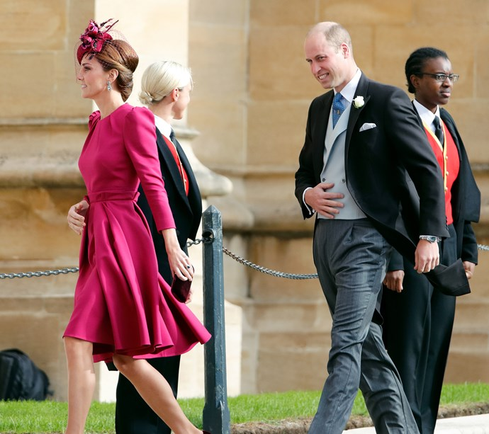 Kate Middleton and Prince William at Princess Eugenie's wedding in October 2018.