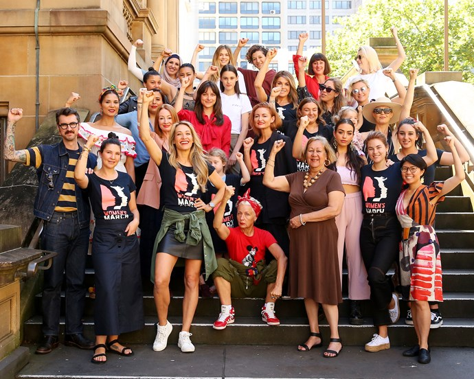 The Ambassadors of the 2019 Sydney Women's March.