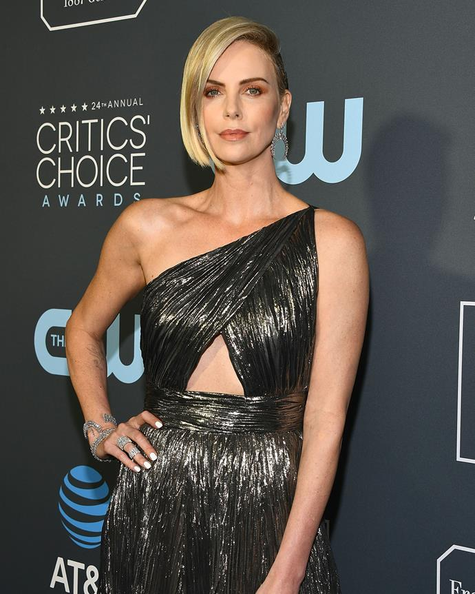 Theron at the Critic's Choice Awards on January 13, 2019.