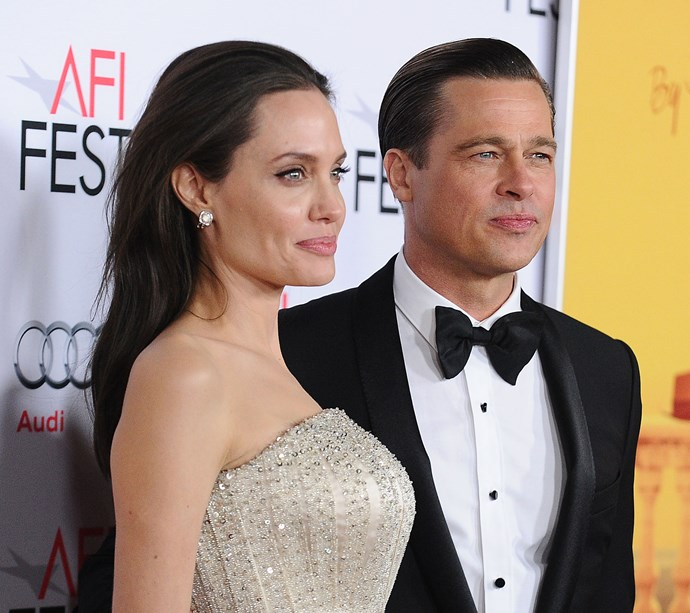 Pitt and Angelina Jolie at their final red carpet appearance as a couple on November 5, 2015.