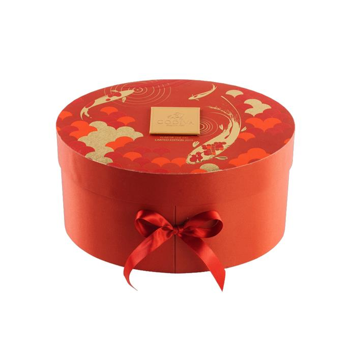 "36-piece Chinese New Year Oval Luxury Gift Box, $288 at [Godiva](https://godiva.com.au/collections/gift-boxes/products/36-chinese-new-year-gift-box|target=""_blank""