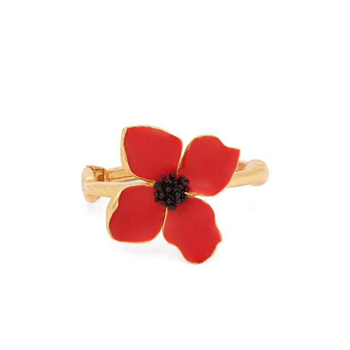 "Painted flower bracelet by Oscar de la Renta, $546 at [MATCHESFASHION.COM](https://www.matchesfashion.com/au/products/Oscar-De-La-Renta-Painted-flower-bracelet-1251283|target=""_blank""