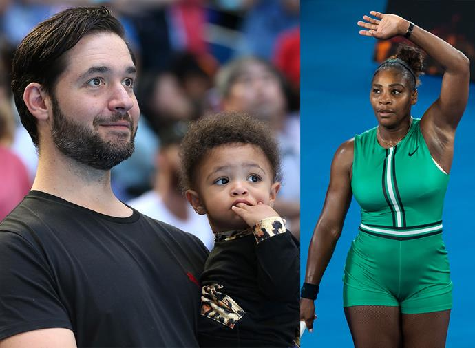 **Alexis Ohanian and Alexis Olympia Ohanian Jr, Serena Williams' husband and daughter** <br><br> Possibly the cutest fans on the tour, Reddit founder Ohanian and his one-year-old daughter with Williams, Alexis Jr, rarely miss one of mum's matches. Ohanian and Williams wed in November 2017, two months after welcoming Alexis Jr, but they first met back in 2015, when Ohanian sat next to Williams and her friends at an outside table at a Rome hotel restaurant.