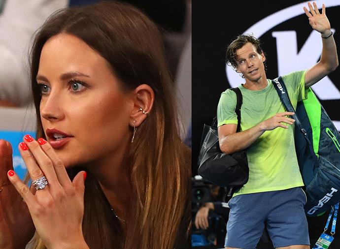 """**Ester Berdych, wife of Tomas Berdych** <br><br> This 27-year-old swimsuit model from the Czech Republic is a glamorous court-side fixture at her husband's matches (check out that blinding engagement ring!) and is all over his [Instagram feed](https://www.instagram.com/tomasberdych/?hl=en