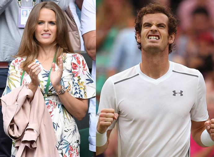 **Kim Murray, Andy Murray's wife** <br><br> A British artist, Kim met Murray when her father, a tennis coach, introduced them as teenagers. They've been together ever since, marrying in 2015 and welcoming two daughters: Sophia in 2016 and Edie in 2017. Kim is a vocal supporter of her husband, and has even been caught on camera swearing profusely at some of his matches.