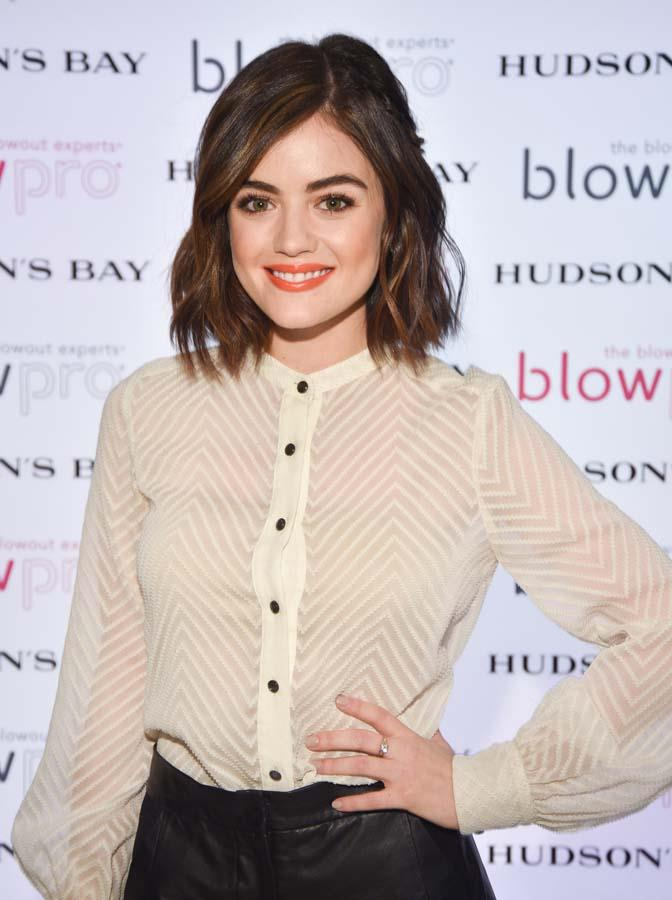 ***Lucy Hale***<br><br> For *Pretty Little Liars* actress Lucy Hale, change came all at once. When she cut her hair off into her now-signature bob, she cut out alcohol from her life completely.