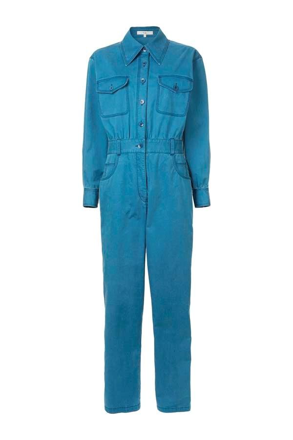 "*Boilersuits*<br><bR> Boilersuit by Tibi, $473 at [Farfetch](https://www.farfetch.com/au/shopping/women/tibi-washed-denim-twill-jumpsuit-item-13115460.aspx? target=""_blank"" rel=""nofollow"")."