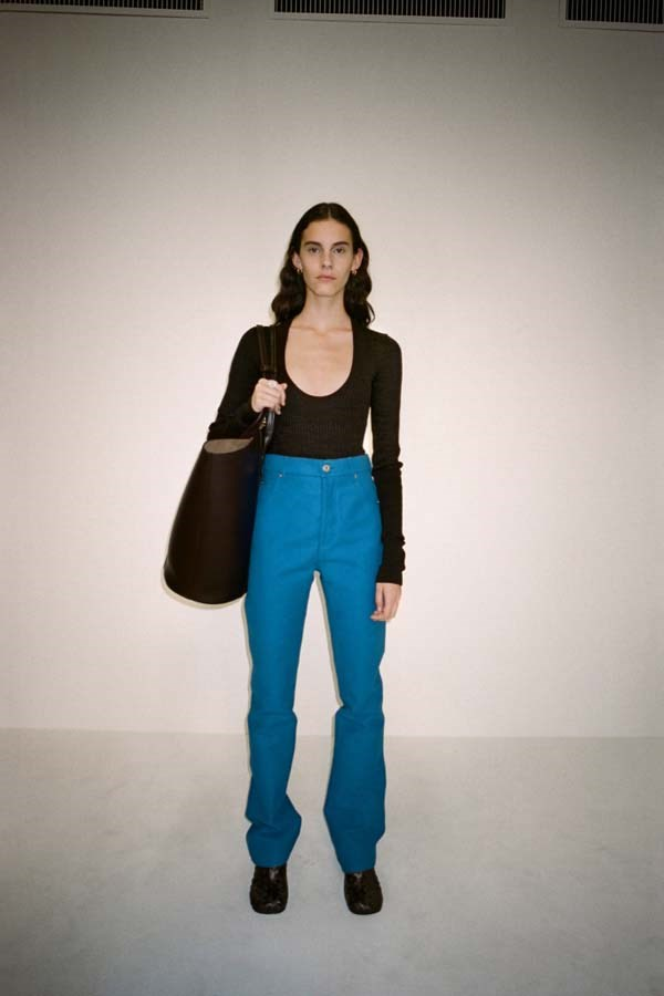 *Colour Blocked*<br><br> Candle-apple red, cerulean blue or even striking yellow, a colour blocked jean is the easiest route to a sartorial statement. <br><br> As seen at: Bottega Veneta.