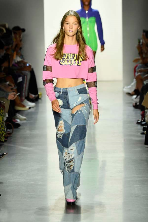 *Patchwork*<br><br> Why were one denim trend when you can wear three at once? Whether you're going full-quilt or a simple two-toned stitch, patchwork denim is back.<br><br> As seen at: Jeremy Scott.