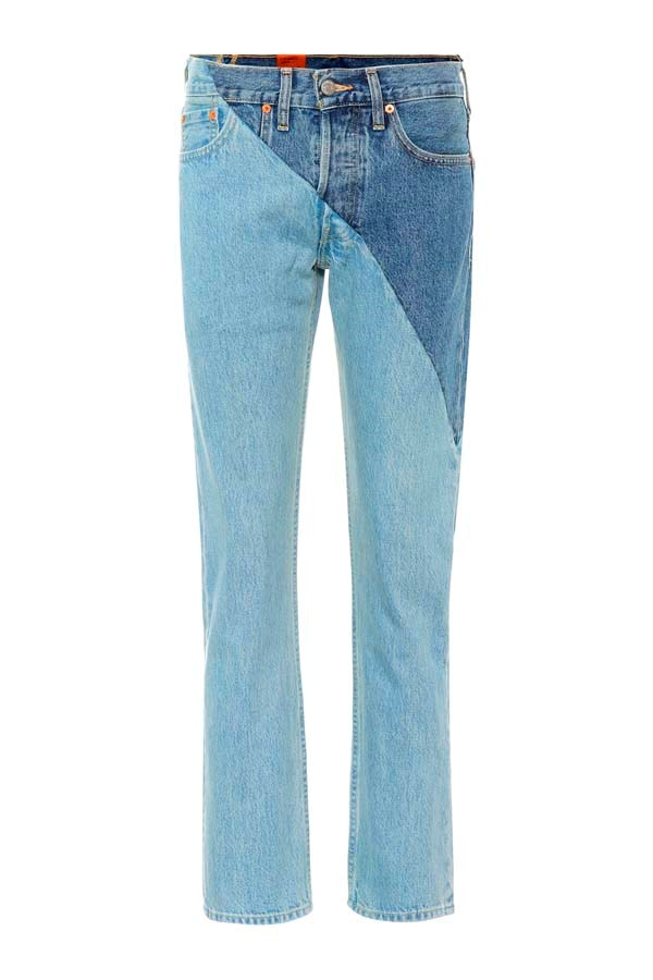 """*Patchwork*<br><br> Jeans by Vetements, $795 at [My Theresa](https://www.mytheresa.com/en-au/vetements-x-levi-sr-reworked-high-waisted-jeans-975801.html target=""""_blank"""" rel=""""nofollow"""")."""