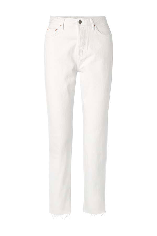 "*White Hot*<br><br> Jeans by GRLFRND, $296 at [NET-A-PORTER](https://www.net-a-porter.com/au/en/product/1111441/grlfrnd/devon-frayed-high-rise-straight-leg-jeans|target=""_blank""|rel=""nofollow"")."