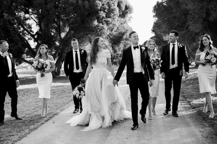 **On the guest list:** 120 of our closest family and friends, many travelling from all different corners of Australia as well as overseas, gathered to watch and celebrate Sam and I promising forever together.