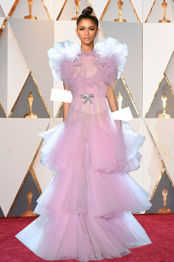***Zendaya in Giambattista Valli***<br><br> Zendaya's never met a look she couldn't pull off, so this ultra-flouncy, ruffled-up confection has the perfect amount of drama.