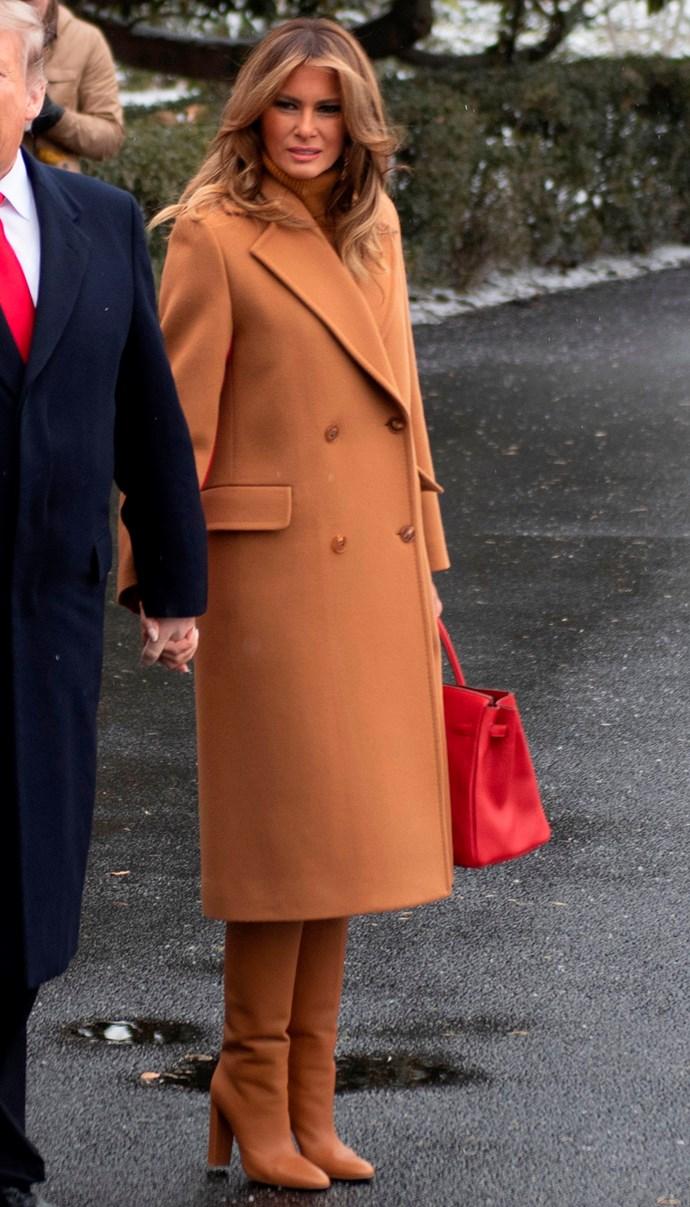 Melania Trump at the White House on February 2, 2019.