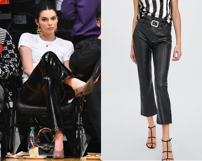 "***Leather trousers*** <br><br> It's true that affordable faux-leather (or even vinyl) has the potential to look equally as chic as the real thing, and at the end of the day, it's all in the fit. We're calling it—as soon as you nab the right pair of affordable leather pants, you'll wear them to death. <br><br> *Trousers on right, $69.95 at [ZARA](https://www.zara.com/au/en/faux-leather-trousers-p05427272.html?v1=7895800&v2=1009531|target=""_blank""
