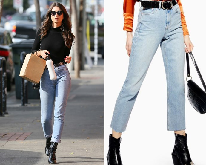 "***The perfec off-duty jeans*** <br><br> In 2019, jeans are more accepted than they've ever been, and you can get away with wearing them practically anywhere. Regardless, if you're not willing to shell out hundreds on Calvin Klein or Rag & Bone, high-street denim offerings are improving by the day, from the likes of Topshop, H&M and more. If you're feeling up to it, you could even go hunting for the perfect vintage jeans, and get your hands on a retro style. <br><br> *Jeans on right, approx. $75 at [Topshop](https://www.topshop.com/en/tsuk/product/jeans-6877054/shop-all-jeans-6906718/bleach-raw-hem-straight-leg-jeans-8315043|target=""_blank""