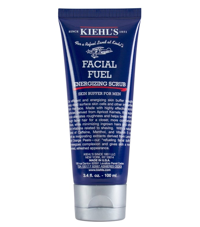 "Facial Fuel Energising Scrub for men, $33 at [Kiehl's](https://www.kiehls.com.au/facial-fuel-energizing-scrub/615.html#start=8&cgid=face-cleansers-scrubs|target=""_blank""