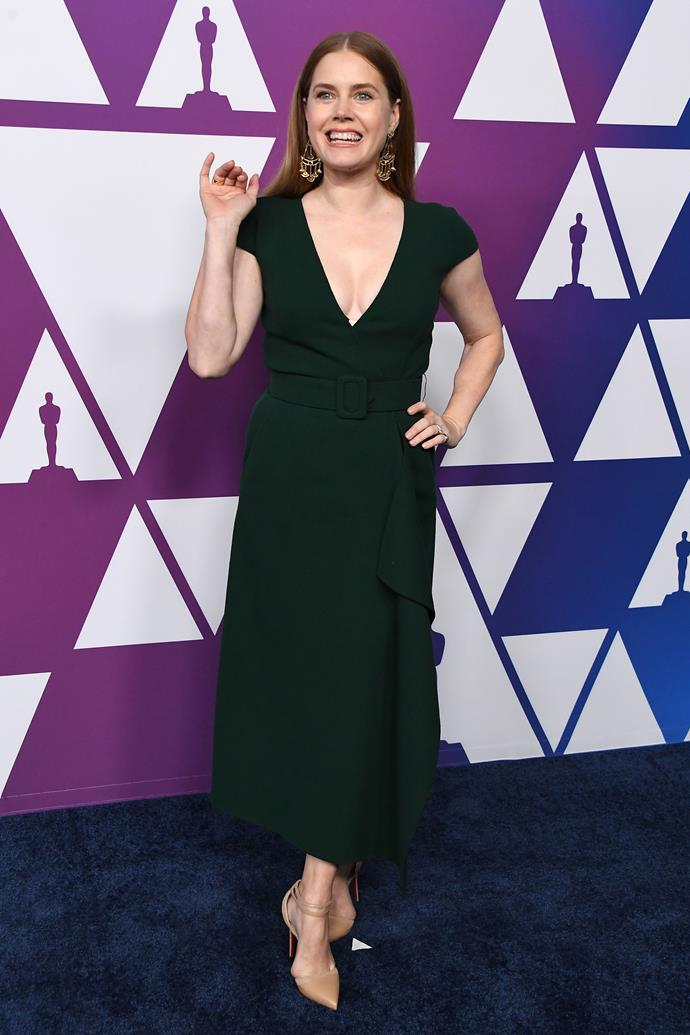 Amy Adams in Oscar de la Renta.