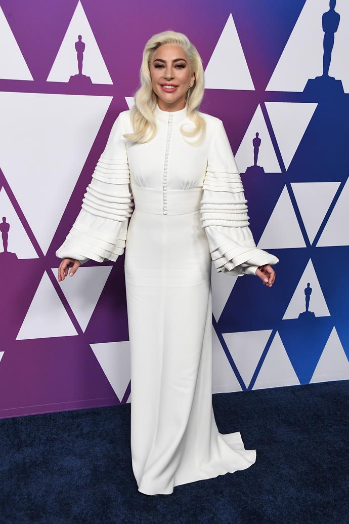 Lady Gaga in Louis Vuitton.