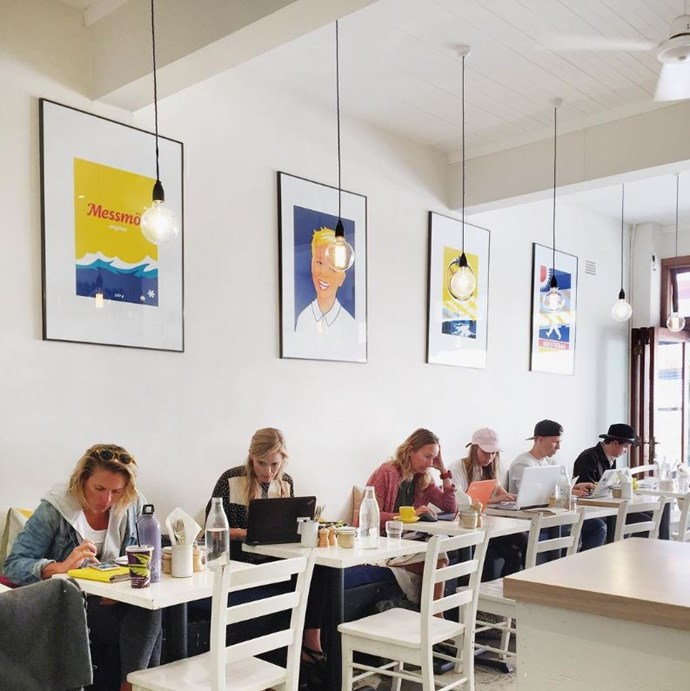"""**[Fika Swedish Kitchen](https://www.fikaswedishkitchen.com.au/ target=""""_blank"""" rel=""""nofollow"""")** <br><br> **Location:** Manly <br><br> Opened in 2013, this Scandi cafe is a minimalist's dream with its clean white, yellow and blue interior and aesthetically pleasing lolly counter. They even draw adorable Dala horses in their coffee foam!  <br><br> [@fikaswedishkitchen](https://www.instagram.com/fikaswedishkitchen/?hl=en target=""""_blank"""" rel=""""nofollow"""")"""