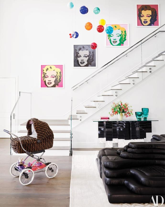 Note: *That* Fendi stroller. Courtesy of *Architectural Digest*