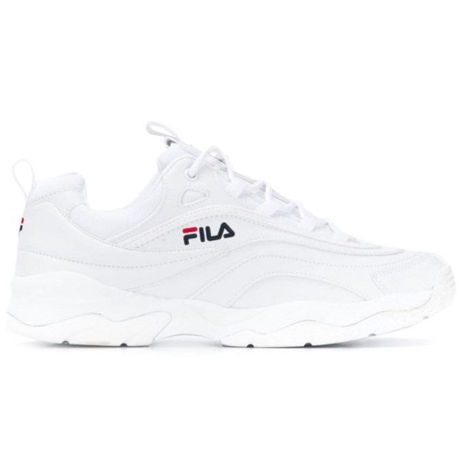 """***#4: Fila 'Ray' Sneakers*** <br> Ice-white 'dad sneakers' were everywhere in 2018—but for those who weren't willing to shell out over $1,000 on a designer pair, Fila's 'Ray' sneakers were an equally buzzy alternative. Fila also reached a new level of popularity in 2018, thanks to its famous logo being reincarnated by Fendi at their autumn/winter '18 show. <br><br> *Fila 'Ray' sneakers, $163 at [Farfetch](https://www.farfetch.com/au/shopping/women/fila-ray-sneakers-item-13675112.aspx?storeid=9462