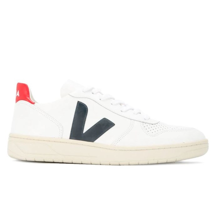 """***#1: Veja V-10 Sneakers*** <br> Lyst cites Meghan Markle, the Duchess of Sussex, as one of the reasons Veja's sneaker range has spiked in popularity (the Duchess of Sussex wore a pair on her tour of Australia in October 2018). Coupled with their affordable price, we're hardly surprised about their surge in popularity over the past year. <br><br> *Veja V-10 sneakers, $203 at [Farfetch](https://www.farfetch.com/au/shopping/men/veja-v-10-sneakers-item-13077038.aspx?storeid=9709
