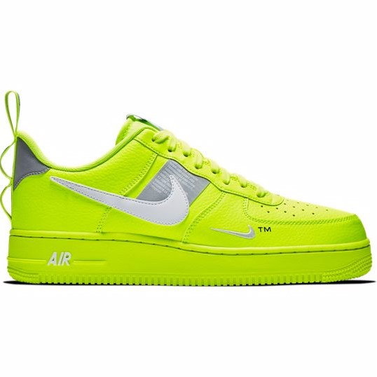 """***#5: Nike Air Force 1 Utility Volt*** <br> Nike's Air Force 1 sneakers have always been a staple, and are often called the most comfortable sneakers on the market. The completely neon version became an It-piece in 2018, and in 2019, they're still sold out almost everywhere. <br><br> *Nike Air Force 1, $170 at [Foot Locker](https://www.footlocker.com.au/en/p/nike-air-force-1-men-shoes-47986?v=244100244904