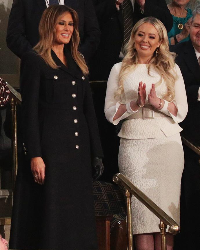 Melania and Tiffany Trump on January 6, 2019.