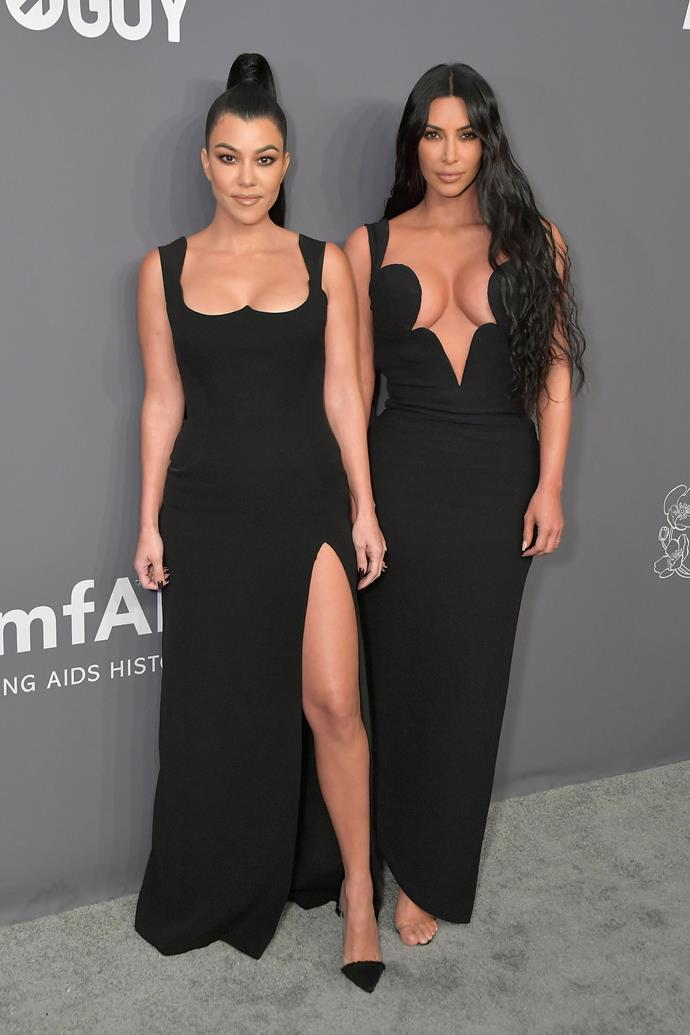 Kourtney Kardashian and Kim Kardashian.