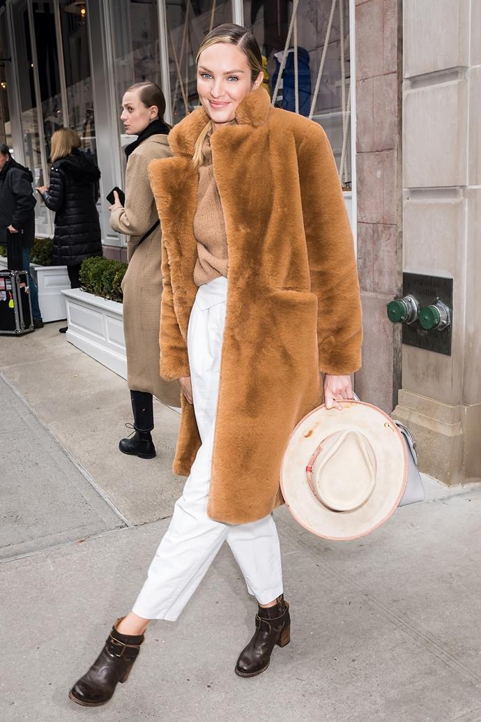 Candice Swanepoel at Ralph Lauren.