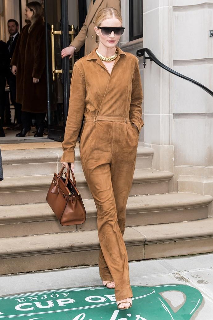 Rosie Huntington-Whiteley at Ralph Lauren.