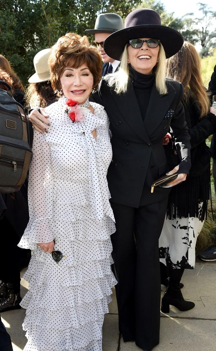 Lynda Resnick and Diane Keaton at Rodarte.