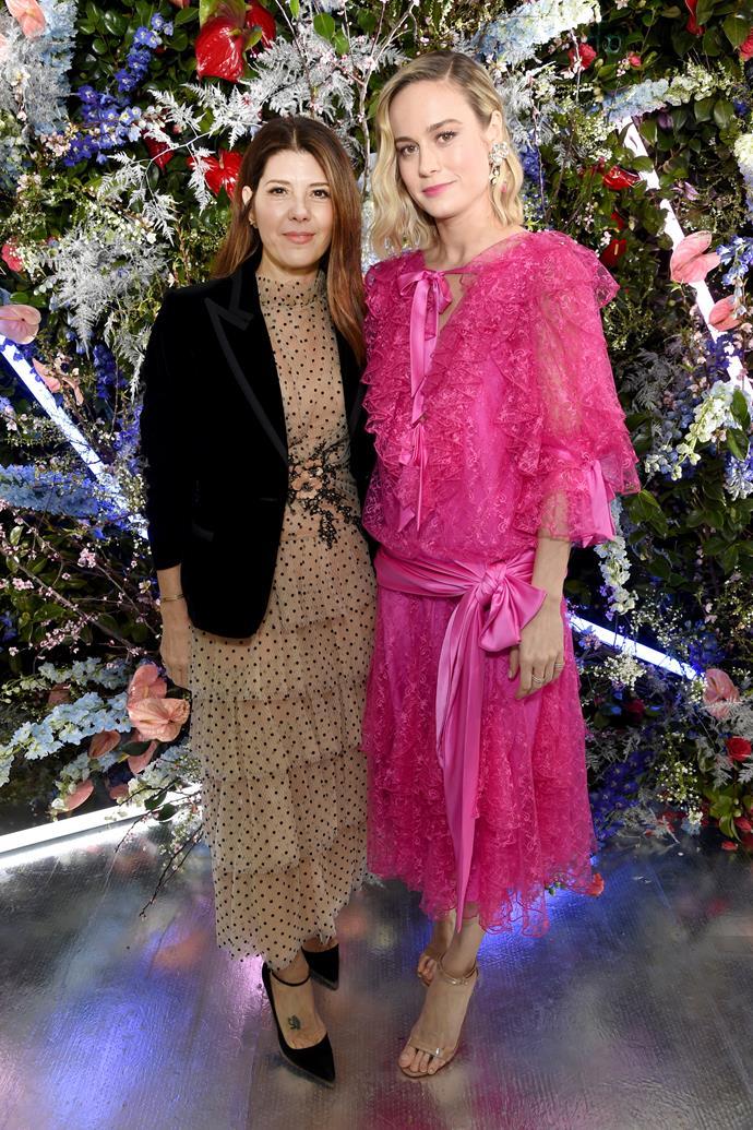 Marisa Tomei and Brie Larson at Rodarte.
