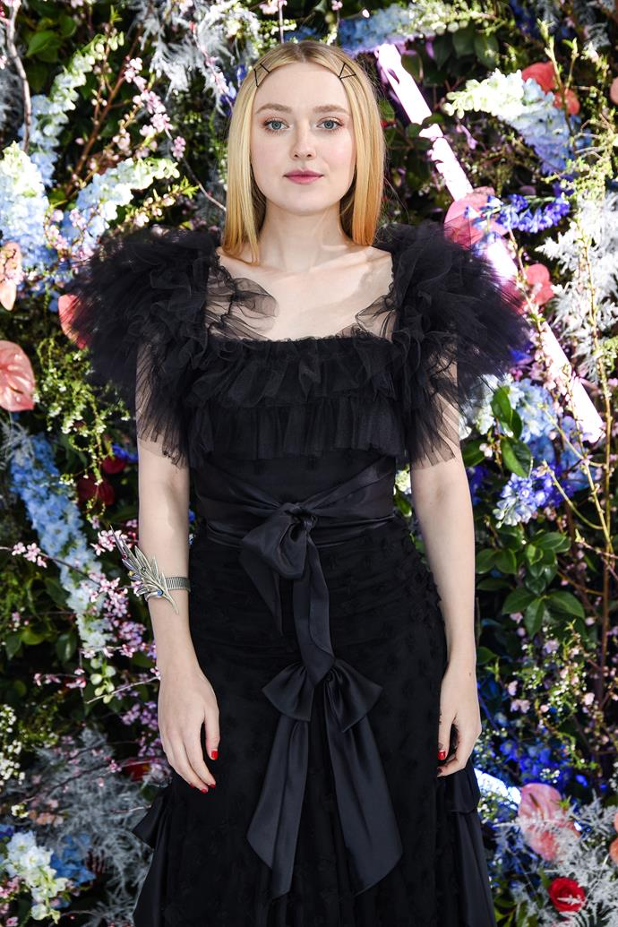 Dakota Fanning at Rodarte.