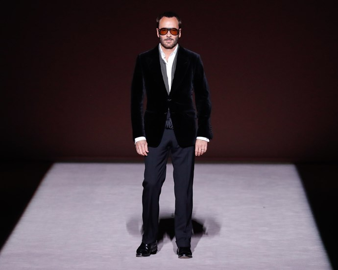 Ford on the runway at Tom Ford autumn/winter '19.