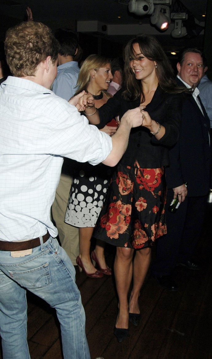 Dancing with a friend in 2006.